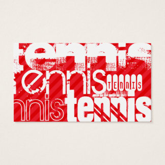 Tennis; Scarlet Red Stripes Business Card
