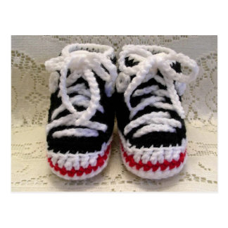 Tennis Shoes Baby Booties Post Card