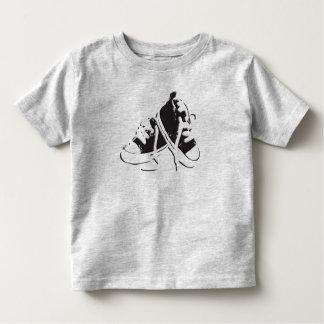 Tennis Shoes-Black Toddler Tee