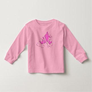 Tennis Shoes-Pink Toddler Tee