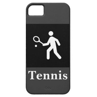 Tennis Sign Black and White iPhone 5 Cases