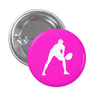 Tennis Silhouette Button Pink