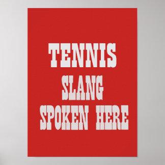 Tennis slang poster