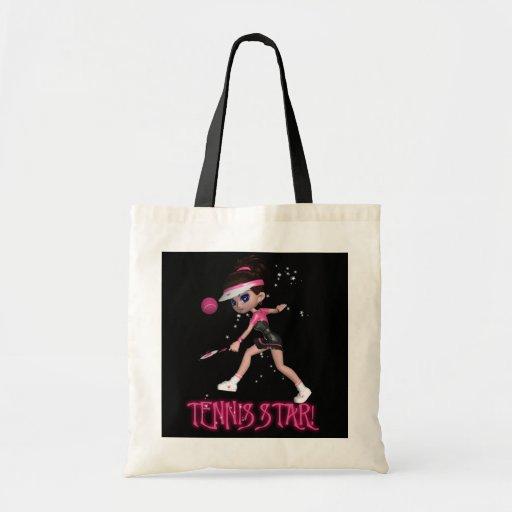 Tennis Star Designer Tote Bag - Cute Bag