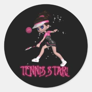 Tennis Start Sticker