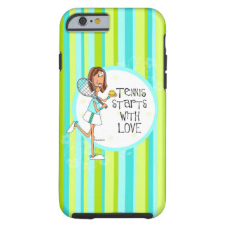 Tennis starts with love iphone 6 tough case