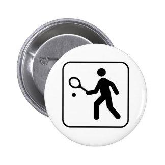 Tennis Symbol Button