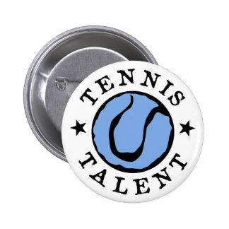 Tennis Talent Blues 6 Cm Round Badge