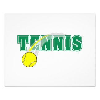 tennis text graphic 11.5 cm x 14 cm flyer
