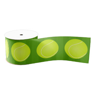 Tennis themed Party Grosgrain Ribbon