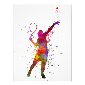 tennis to player AT service serving silhouette