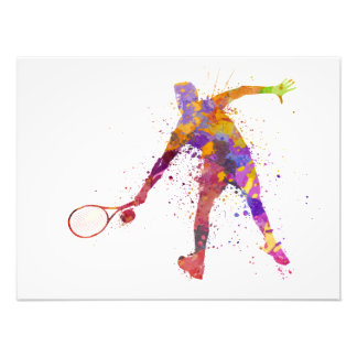 tennis to player in silhouette 02