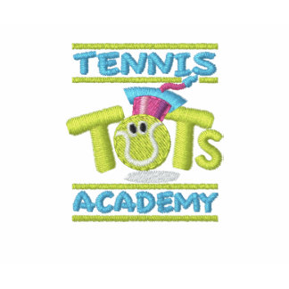 Tennis Tots Academy stacked logo on sleeve Polo