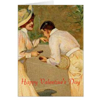 tennis valentine greeting card