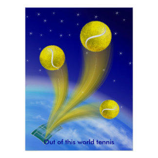 Tennis Victory, personalized Poster