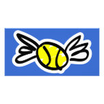 tennis-wings photo greeting card