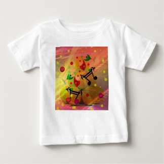 Tennis with music notes in Christmas Baby T-Shirt