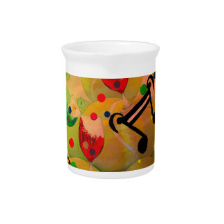 Tennis with music notes in Christmas Pitcher