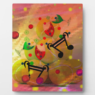 Tennis with music notes in Christmas Plaque