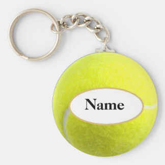 tennisball with your nasty on it basic round button key ring