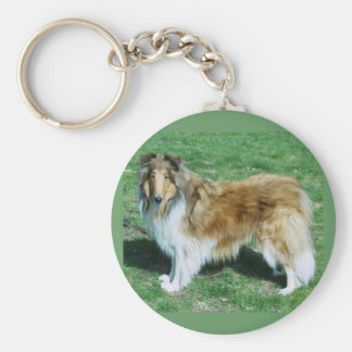 TENNYSON -A COLLIE BASIC ROUND BUTTON KEY RING