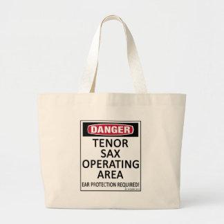 Tenor Sax Operating Area Jumbo Tote Bag