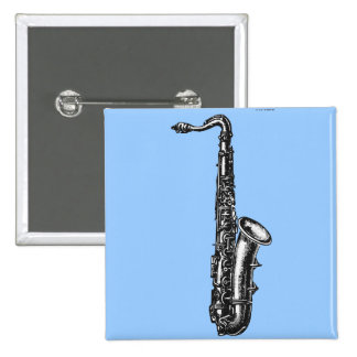 Tenor Saxophone 15 Cm Square Badge