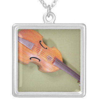 Tenor viol, 1667 silver plated necklace