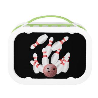 Tenpin bowling Pins and Bowling Ball Lunch Box