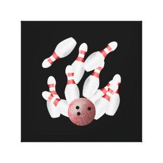 Tenpin bowling Strike Canvas Print