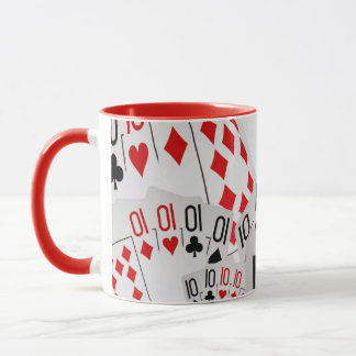 Tens, Poker Cards, Red Combo Coffee Mug