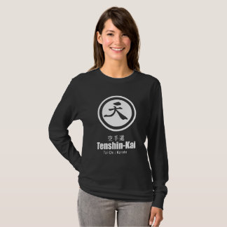 Tenshin-Kai Karate(wome) black long-sleeve T-Shirt