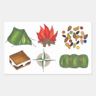 Tent Campfire Compass S'mores Camp Camping Sticker