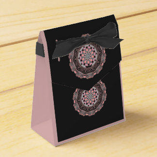 Tent Favor Box Rose and black