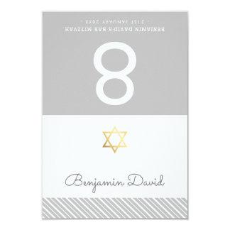TENT PLACE CARDS Bar Mitzvah star of david grey