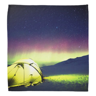 Tent Under The Northern Lights Bandana