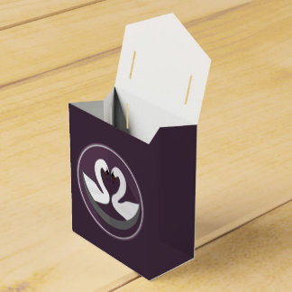 Tent with Ribbon Favor Box LOVE SWANS