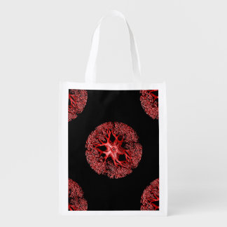 Tentacle Section in Red Reusable Grocery Bag