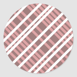 Tentacle Stripes Classic Round Sticker
