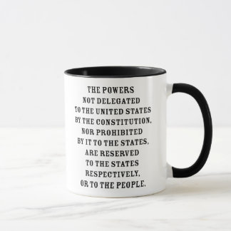 Tenth Amendment Text Mug