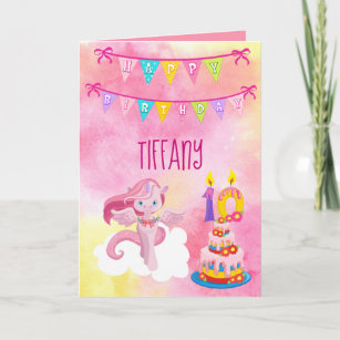 Tenth Birthday Unicorn Party Card