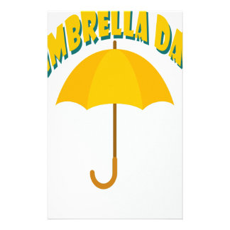 Tenth February - Umbrella Day - Appreciation Day Personalised Stationery