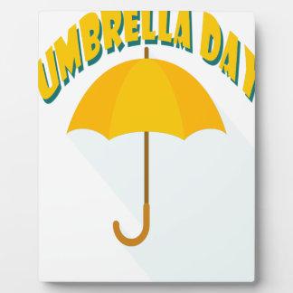 Tenth February - Umbrella Day - Appreciation Day Plaque