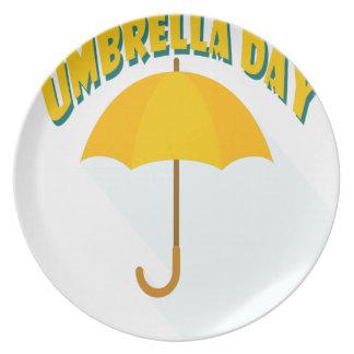 Tenth February - Umbrella Day - Appreciation Day Plate
