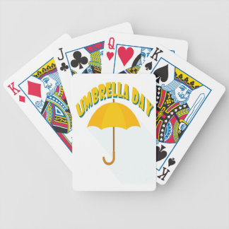 Tenth February - Umbrella Day - Appreciation Day Poker Deck