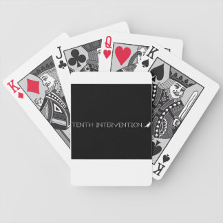 TENTH INTERVENTION playing cards - black and white