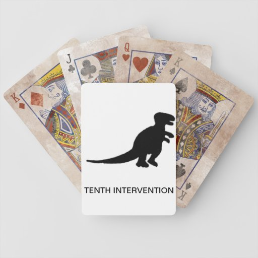 TENTH INTERVENTION playing cards - distressed edit