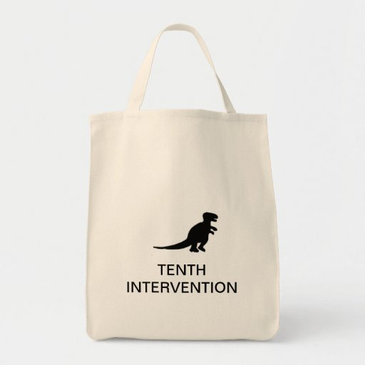 TENTH INTERVENTION tote bag