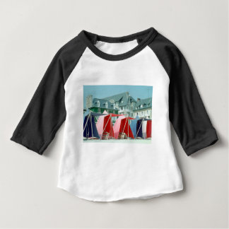 Tents on beach in Brittany, France Baby T-Shirt