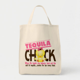 Tequila Chick Grocery Tote Bag